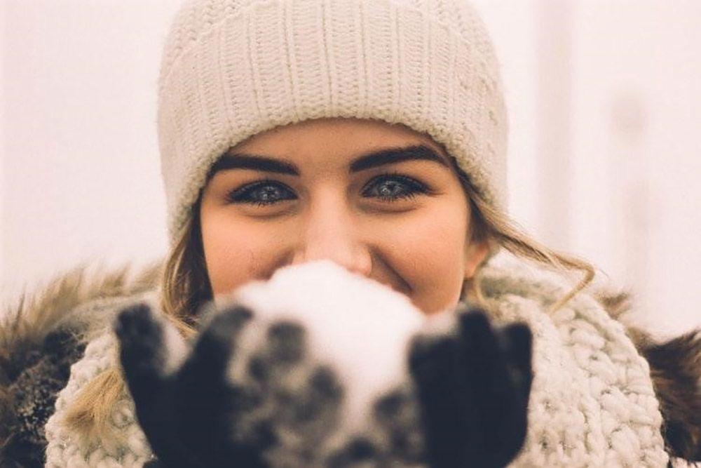 Snowball woman