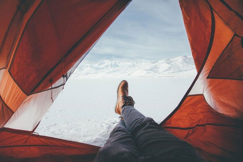 Winter Camping Tent Life