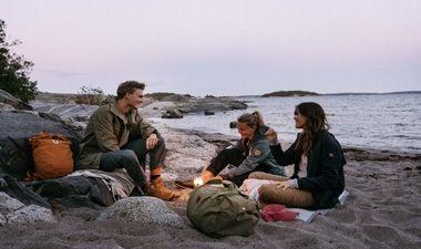 Fjallraven on the beach
