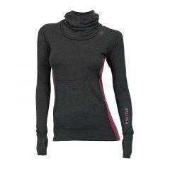Aclima Womens WarmWool Hooded Sweater Marengo/Grapewine