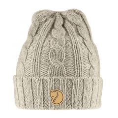 Fjallraven Braided Knit Hat - Chalk White