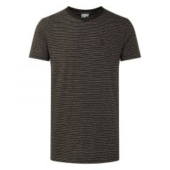 Tentree Mens Hemp V-Neck T-shirt Black and White